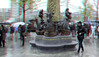 Inhuldiging Marten Toonder Monument Rotterdam 3D (wim hoppenbrouwers) Tags: inhuldiging marten toonder monument rotterdam 3d anaglyph stereo redcyan cartoonisten martentoondermonument bommel bommelding tompoes