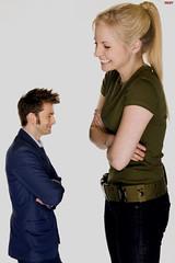 The Doctor and his Daughter (iggy62pop2) Tags: giantess shrinkingman sexy blonde babe upskirt uniform doctor drwho heightcomparison tallwoman tiny man minigiantess daughter davidtennant funny tardis doctorwho