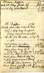 Fourteenth page of the Cambridge Milk Dealer Account Book (Cambridge Room at the Cambridge Public Library) Tags: cambridgemass commerce milk business accountbooks milkdelivery