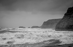Rough at Whitby (jameshowardphotography) Tags: whitby white water cliffs swell waves mono monochrome black saltwick yorkshire north northyorkshire northeast northern nikon seascape sea sky