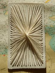 (Landanna) Tags: embroidery embroideryonpaper borduren bordurenoppapier broderi broderipåpapir handmade design paperwork stringart needlework