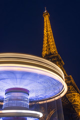 spinning (Cary Strachan) Tags: architecture night dusk city outdoor outside colourful paris nikon d7200 tower neon landmark eiffeltower longexposure abstract