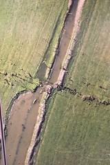 Ein Luftbild nach dem Erdbeben von 2011 um Christchurch - da hat sich ganz schön was verrückt.