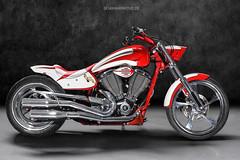 Victory Jackpot Custom - Shot 1 (Dejan Marinkovic Photography) Tags: victory hammer motorcycle bike custombike lightpainting scallops