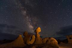 Goblin Valley (fred h) Tags: redrock42620171081 goblinvalley milkyway light painting lightpanting