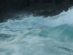 Wave movement (lynn.pascoe) Tags: waves movement water blue white fluidity splash rough strong abstract