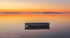 Stillness (Francesco Impellizzeri) Tags: trapani sicilia sunset boat water reflections