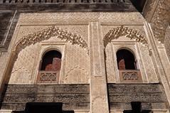 Décor du premier étage, médersa Bou Inania (XIVe siècle), Talaa Kbira, médina de Fès el Bali, Fès, Maroc. (byb64) Tags: fès fez فاس ⴼⴰⵙ fas fèsmeknès maroc morocco marruecos المغرب ⵍⵎⵖⵔⵉⴱ royaumedumaroc marokko marocco médina medina vieilleville oldtown cascohistorico altstadt fèselbali unesco unescoworldheritagesite toits techos ville city citta ciudad town stadt talaakbira médersa madrassa xive 14th moyenage medioevo middleages edadmedia école université mérinides bouinania stuc calligraphie zellige tesselles cèdre marbre artislamique islam afriquedunord northafrica islamicart