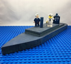 2017-142 - National Maritime Day (Steve Schar) Tags: 2017 wisconsin sunprairie iphone iphone6s project365 lego minifigure doctorwho twelfthdoctor tardis ship freighter sailor cargo nationalmaritimeday