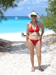 Red bikini in Paradise (moonjazz) Tags: bikini red bahama woman swimsuit travel beach white sexy paradise caribbean cay legs pretty goddess fun swim cruise island hat female fabulous fit blue aqua strong smart string barefoot queen intelligent sensual wife wonderful joy smile portrait model venus mermaid lovel romance hot color photography natural inspiration sensational muse irrisistible sunglasses babe terrific