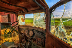 Double Dials (KPortin) Tags: abandoned abandonedtruck window brokenwindows lincolncounty
