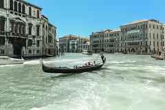 Gondolier (Christos MRA) Tags: gondolier venice christoskrallis grandcanal italy venezia palazzo