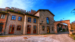 Montesegale Castle is closed today (Marco Trovò) Tags: marcotrovò hdr canon5d montesegale pavia italia italy city città strada via street casa house castellodimontesegale montesegalecastle