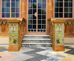 Ca d'Zan door (Tim Ravenscroft) Tags: doorway door stairs tile floor ornate detail glass ca dsan ringing sarasota florida hasselblad x1d cadzan