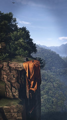 Death From Above (imkairu) Tags: ghost recon wildlands grw tom clancy sniper tree jungle forest cliff orange sky mountain nvidia ansel gaming games video