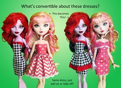 Convertable how? (RequiemArt.com) Tags: petite slimline operetta ca cupid ever after high doll clothes handmade pattern convertable minidresses