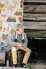 Didn't Have Fritos in the Old Days (wyojones) Tags: huntsville texas samhoustonmuseum smhouston man hat shirt trousers frotos bottledwater stump sittin generalsamhoustonfolkfestival samhoustonfolkfestival walkercounty