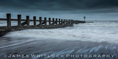 A Storm is Coming (James Whitlock Photography) Tags: uk scotland aberdeen beach groyne wave sand sea water rolling wood storm rain sunrise long exposure