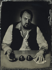 The Wrong Guess (mmeshka) Tags: alternative alternativephotography ambrotype blackandwhite collodion epsonv600 fkd18x24 industar37 largeformat tintype wet plate wetcollodion portrait indoor