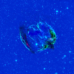 Baby Black Hole and W49B, LAB variant (sjrankin) Tags: 13may2017 nasa edited chandra chandraspacetelescope snr supernovaremnant nebula supernova colorized lab w49b