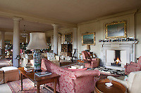 JF_EC8_10 (brynnjour) Tags: book cabinet ceilinglight chair chandelier colour column countryhouse cushion decoration fire fireplace groupofpeople indoors interior lamp lighting litfire nobody objects offwhite painting pattern pink receptionroom rug seating sofa softfurnishing storage table tablelamp white cambridgeshire england