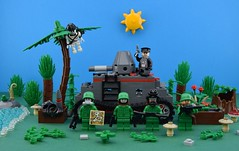 My army😤 (Alex THELEGOFAN) Tags: lego legography minifigure minifigures minifig minifigurine minifigs minifigurines soldier commander tank char soldat palm tree vegetation bush water frog rock mushroom men army nature jungle forest