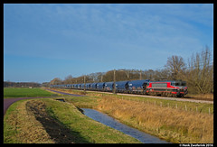 Captrain 1619, Zenderen 27-12-2016 (Henk Zwoferink) Tags: zenderen overijssel nederland nl captrain ct rlx raillogix rail force one henk zwoferink graan vtg tagnnpps 1619