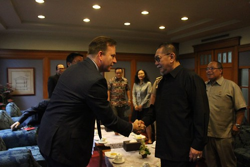 Warm welcome from West Java Vice Governor and his staff