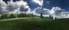 Mountainbike Tour über die schwäbische Alb Teil zwei (Blende2,8) Tags: badenwürttemberg lichtenstein wolken panorama himmel wachholderheide wiese bäume wald schwäbischheide schwäbischalb heide