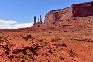 Three Sisters Mitchell Mesa|Monument Valley, Arizona