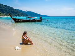 P2080462 (ivanpecina1) Tags: thailand thai tailandia girl beach ko lipe olympus omd em5 boat asia paradise southeast micro43 island