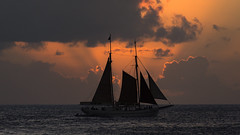 Sunset Sailboat (Ben_Senior) Tags: sintmaarten saintmartin sxm princessjulianaairport tncm dutchwestindies caribbean dutchcaribbean island paradise bensenior sun sunset sunlight cloud clouds cloudy sunny orange yellow nikon d7100 nikond7100 caribbeansea water sea coast boat sailboat vessel sailing ship mahobeach
