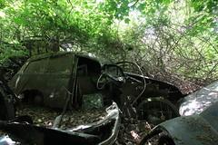 IMG_1117 (mookie427) Tags: urbex urban explore abandoned car cars scrapyard graveyard decay decayed derelict rust rusty medlers norfolk austin a55 van