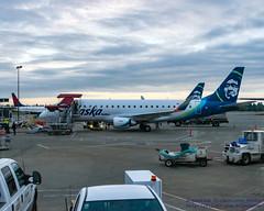"""My"" Jet for 18 May 2017 at the Sea-Tac Gate... (AvgeekJoe) Tags: iflyalaska alaskaair alaskaairlines d5300 dslr erj170200lr erj175 erj175lr embraer embraererj170200lr embraererj175 embraererj175lr ksea n176sy nikon nikond5300 seattletacomainternational seattletacomainternationalairport skywestairlines aircraft aircraftbeacon airplane airport aviation beacon jetliner plane"