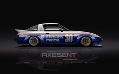 Group C RX7 (AXESENT - kanseigazou) Tags: axesent kanseigazou bennymaxwell groupc mazda rx7 bbs racing rothmans livery digitalillustration freelance commission retro mazspeed nostalgic sideprofile touringcar