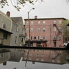 (Paul Comstock) Tags: 24apr2017 april 2017 monday newpaltz newyork nys newyorkstate spring ulstercounty ulster village town 28mm canon6d canon 6d fullframe digitalphotograph photograph color chuechstreet reflection carroof cropped squareformat
