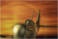 Macro Mondays - Intentional Blur - Sunset Spitfire (andymoore732) Tags: macromondays macro mondays spitfire sunset propeller movingprop model diecast mixedlighting intentional blur window diffuser andymoore colour nikon d500 afs vr micronikkor 105mm f28gifed challenge theme flickr
