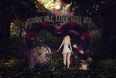 Late for Tea! (Sadie Nova - Interior Decorator) Tags: decocrate madpea blueberry exile outdoors garden friday secondlife shadows aliceinwonderland interiorscapessl