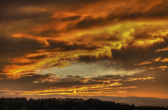 Sky Portrait (Klaus Ficker --Landscape and Nature Photographer--) Tags: sunset clouds colorful evening storm usa kentucky kentuckyphotography klausficker canon eos5dmarkiv weather weatherinkentuckyhdr hdr