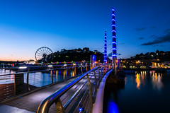 IAT_1797 (Ian Tomlinson, UK) Tags: torquay seafront lee big stopper devon tokina 1120mm d7200 gnd graduated nd filter foot bridge wheel sea boats fairy lights sunset