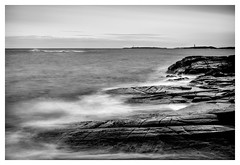 Twin lighthouses (jørnØdegård) Tags: sea ocean norway d800 nikon seascape landscape longexposure blackandwhite