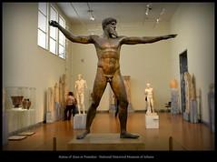 Statue of Zeus or Poseidon (Oguzhan Amsterdam) Tags: greece greek hellas national museum historical atina statue zeus poseidon