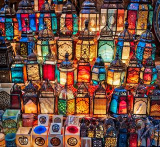 Lamps In Cairo Bazaar
