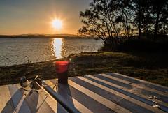 Table setting (OzzRod) Tags: pentax k1 smcpentaxa20mmf28 sunset sunburst shadows lake table silhouette belmontsouth lakemacquarie
