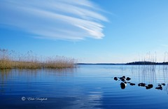 in the clouds! (Elahe Dastgheib) Tags: elahe airplane clouds blue sky lake grass stone stockholm sweden outdoors nature moln blå himmel sjö sten