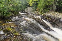 Water Therapy (Aaron Springer) Tags: michigan upperpeninsulaofmichigan waterfall river stream creek gorge water rock stone woodland forest moss scenic outdoor nature landscape waterscape