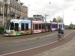 "GVB tram 2097 ""Wonderful Indonesia"" (streamer020nl) Tags: tram strassenbahn gvb 3 2097 indonesia banyuwangi weesperzijde ceintuurbaanbrug ruyschstraat oost amsterdam 2017 090517 holland nederland netherlands paysbas niederlande"