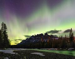 Happy Earth Day! (clark_monson) Tags: castlemountain auroraborealis northernlights bowriver earthday2017 banffnationalpark alberta canadianrockies