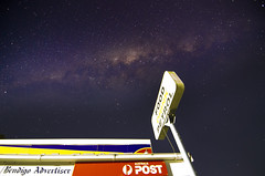 it's a sign (Indigo Skies Photography) Tags: texture air weather sunset water sky red flower nature blue night white tree green flowers art light clouds landscape street trees yellow pink orange new old stars milkyway galaxy galacticcentre tooborac australia nightsky southernsky postoffice sign rural nikond7000 tokina1116mmf28 shop newspaper petrol bendigoadvertiser town family garden people business