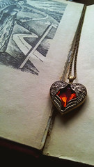 Ruby heart (NadiaNightingale) Tags: book jewell rubin red coulomb old vintage